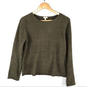 J. Jill Olive Green Sweater